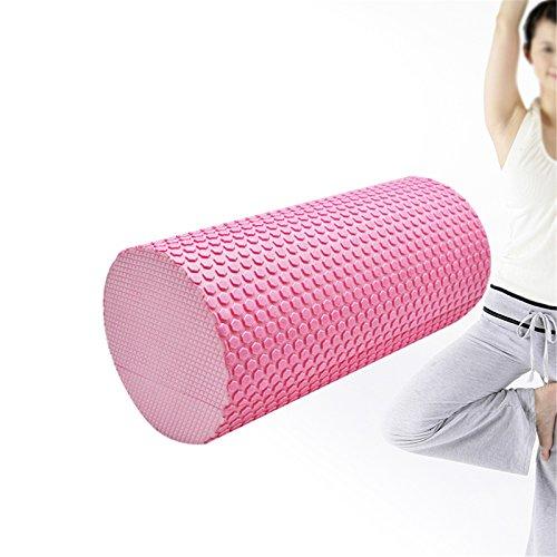 Denshine Trigger Point Foam Roller for Massage Yoga Pilates/High Density Floating Point EVA Yoga Pilates Fitness Gym Foam Roller Massage (pink point) by Denshine