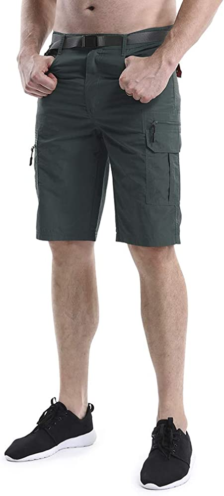Mens Outdoor Casual Lightweight Water Resistant Quick Dry Cargo Fishing Hiking Shorts