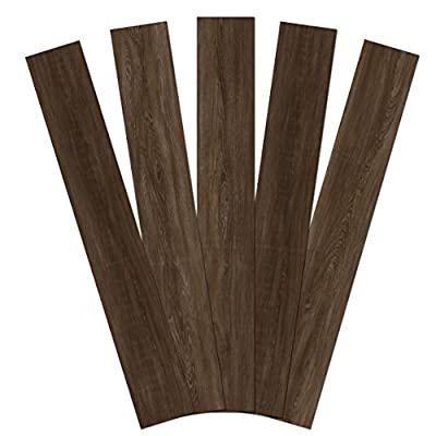 """Admira Collection 10 Pack 4mm Stone Core Engineered Vinyl Plank Flooring, 48"""" x 7"""", Old Woodland, 23 Sq. Ft."""