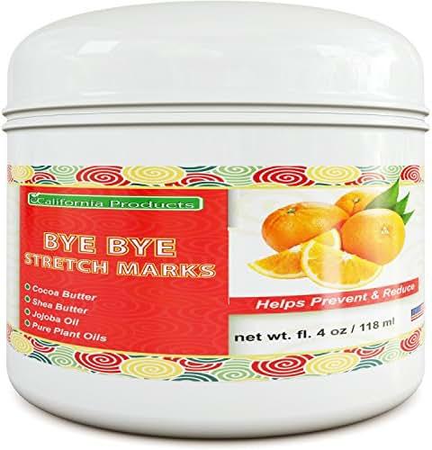 California Products Best Stretch Mark & Scar Fading Cream for Women & Men - Reduces Pregnancy Marks & Fades Scars, & Wrinkles - Shea Butter & Jojoba Oil 4 fl. oz./ 118 ml