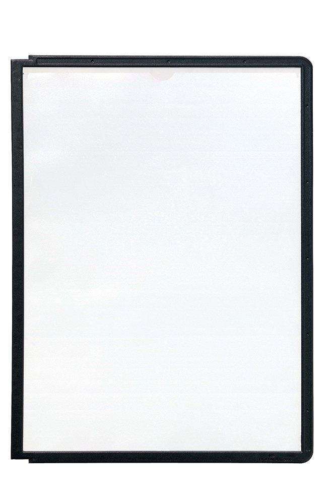 Dark Blue Pack of 5 Durable Sherpa 560607 Display Panel A4 Polypropylene