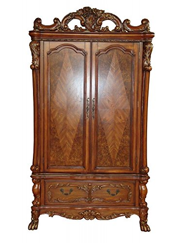 ACME 12147 Dresden TV Armoire, Cherry Oak Finish ()
