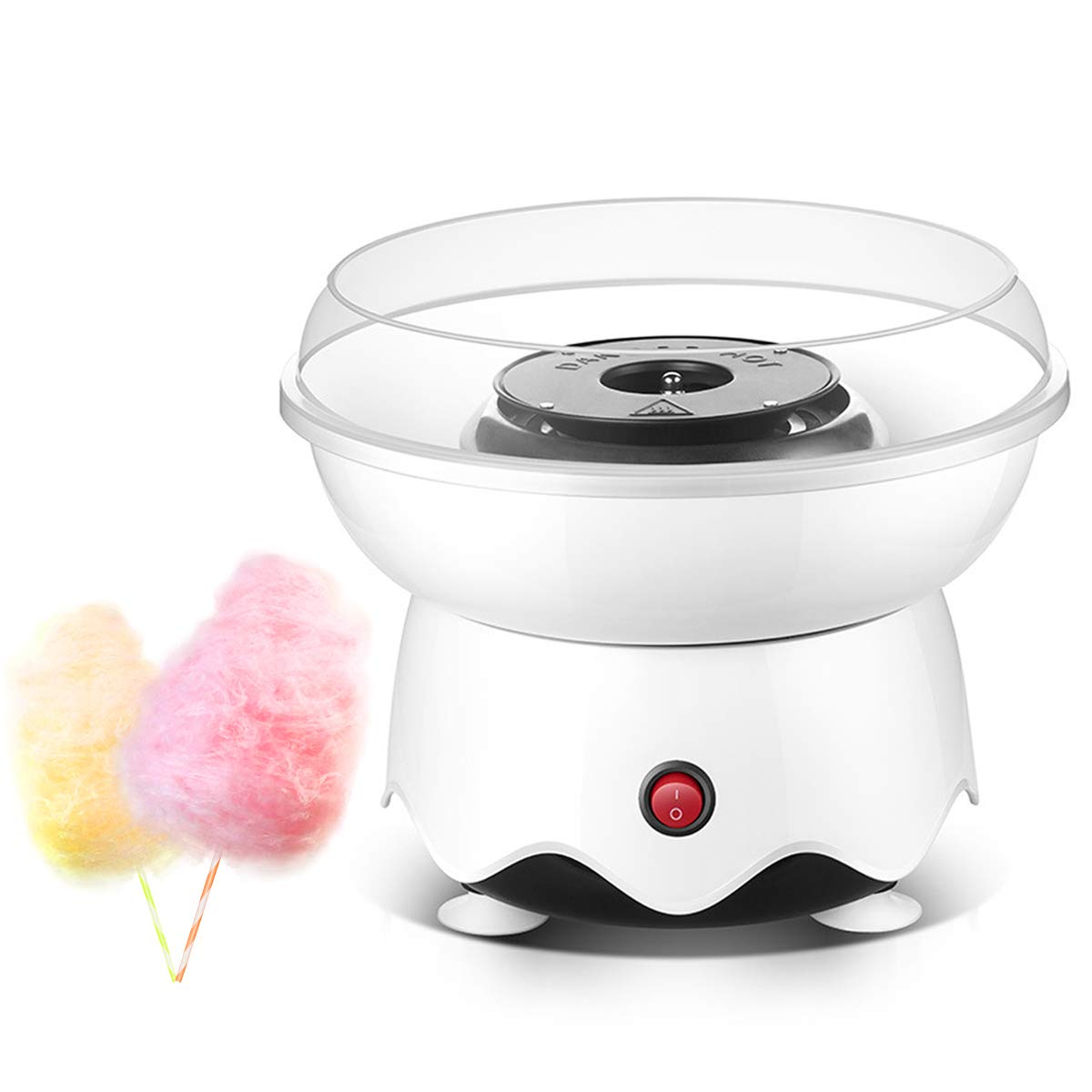 Cotton Candy Maker,Christmas Gift,Homemade Cotton Candy Machine for Birthday Family Party,Portable Candy Floss Machine with 10 Cones and Sugar Scoop