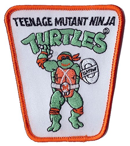 Teenage Mutant Ninja Turtle Action Figure Iron on Patch - Ninja It Yourself Costume Do