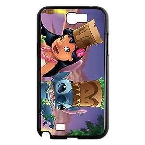 samsung n2 7100 phone case Black Lilo &amp Stitch DFG8448876