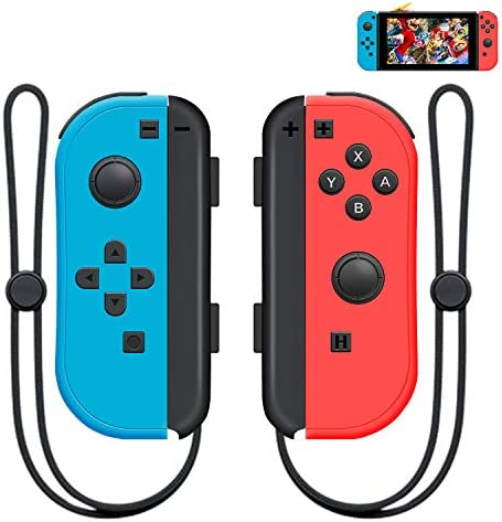 SINGLAND Wireless Controller (L/R) for Nintendo Switch, Remote Bluetooth Switch Controller with Double Shock and 6-Axis Gyro(Red and Blue)