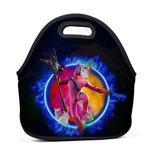 - Alxosla Fortnite Battle Royale Rabbit Raider Neoprene Lunch Tote Bag Waterproof Insulated Thermal Cooler Lunch Bag Portable Lunchbox Outdoor School Work Handbag for Men Women Boys Girls