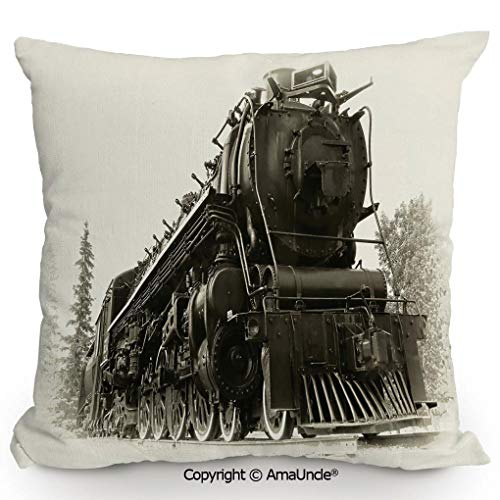 Express Train Bed Tent - SCOXIXI Summer Cushion Cover Printed Pillow Antique Northern Express Train Canada Railways Photo Freight Machine Print,W20xL20 Inches