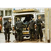 Vintage photo of Highly armed police with bulletproof vests are becoming more common on London's streets