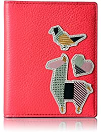 Fossil Rfid Passport Wallet-neon Coral Pass Case