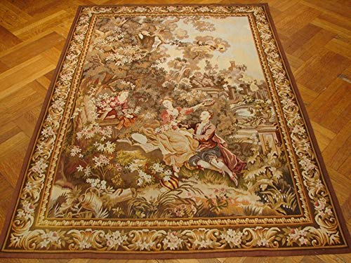 (5x7 Tapestry Handmade Multi Color French Louis XVI Style Aubusson Weave)