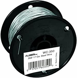 Fi-Shock WC-350 350-Feet, 17 Gauge Spool Galvanized Steel Wire Outdoor, Home, Garden, Supply, Maintenance