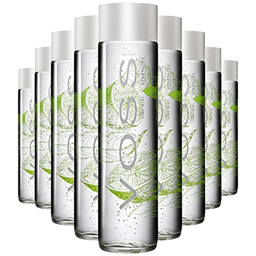 Voss Lime Mint All Natural Flavored Sparkling Water, 12.6 oz Glass Bottles (6 Pack)