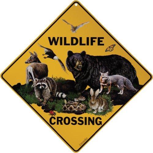 """CROSSWALKS Wildlife Crossing 12"""" X 12"""" Aluminum Sign"""