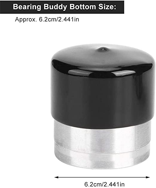 Bearing Buddy 4pcs 2.441in Stainless Steel Trailer Bearing with Protective Buddy Bra Accessory
