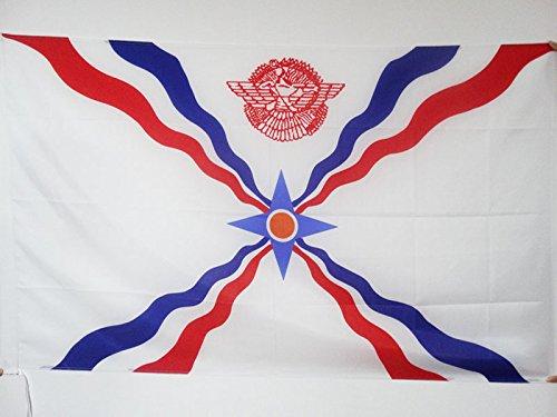 (AZ FLAG Assyria New Flag 2' x 3' for a Pole - Assyrian Flags 60 x 90 cm - Banner 2x3 ft with)