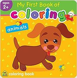 Animals My First Book of Coloring: Jusu Flintas Ltd: 0076645064387 ...