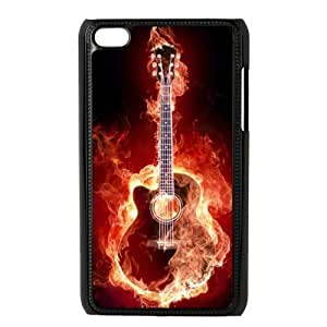 Custom Guitar Design Plastic Case Protector For Ipod Touch 4 4th Generation by lolosakes