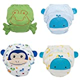 Baby Boys' Toddler 4 Pack Toilet Training Pants Nappy Underwear Cloth Diaper L
