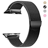 Compatible for Apple Watch Band 38mm, Milanese Loop for iWatch Bands 38mm Women Series 3 2 1 Black