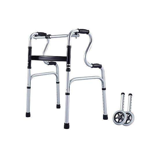 LSLMCS Andador de Acero con/Andador para Ancianos Aluminio ...