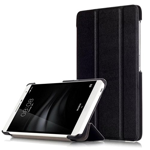 Sikye New Colorful Stand Folio Flip Smart Case Cover Optional For Huawei MediaPad M2 7.0 PLE-703L (Black) (Huawei Honor T1 Tablet)