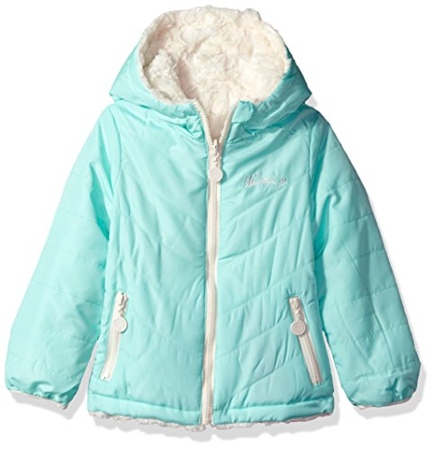 Little Girls Coat (Weatherproof Little Girls' Outerwear Jacket (More Styles Available), Reversible-WG202-Mint/Cream, 4)