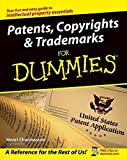 img - for Patents, Copyrights & Trademarks For Dummies by Henri Charmasson (2004-02-06) book / textbook / text book
