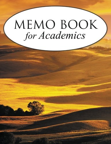Memo Book For Academics