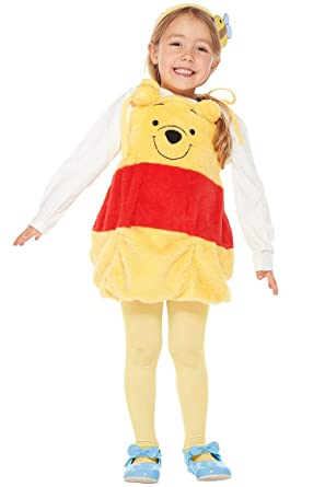 4bdeaa0d5f31 Amazon.com: Disney Winnie the Pooh Costume - Winnie Costume Overalls - Child  S Size: Clothing