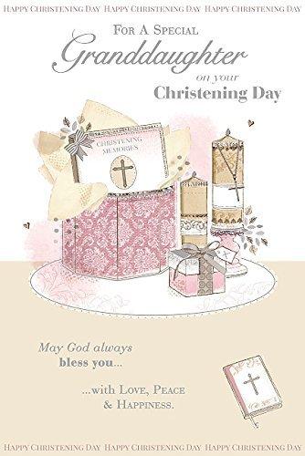 Amazon religious nice verse granddaughter christening greeting religious nice verse granddaughter christening greeting card m4hsunfo