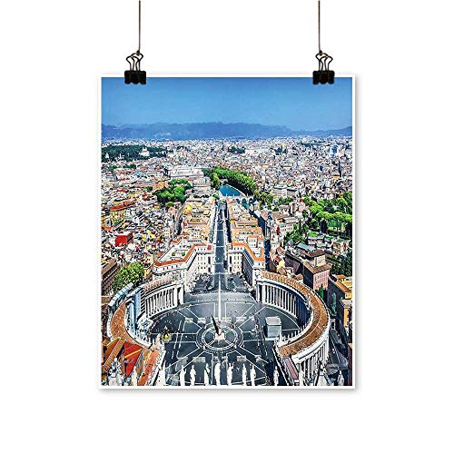 Modern Painting Saint Peters Square in Rome Italian Mediterranean Europe Citscape Urban Mod Print Bedroom Office Wall Art Home,20