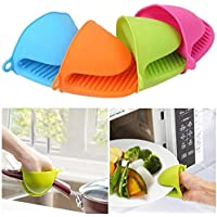 St. Lun Silicone Heat Insulation Silicone Oven Gloves,Cooking Mitts Pinch Grips,Color:Ramdon color (Color : Ramdon color…