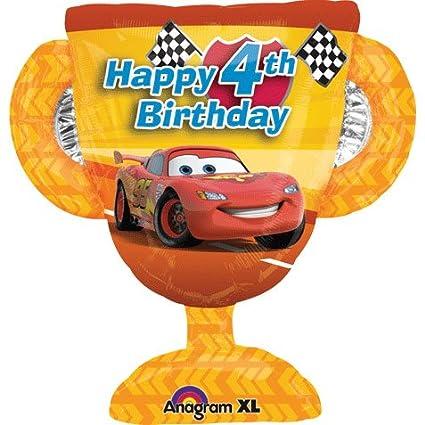 Amazon Disney Cars Happy 4th Birthday 26 Mylar Foil Balloon