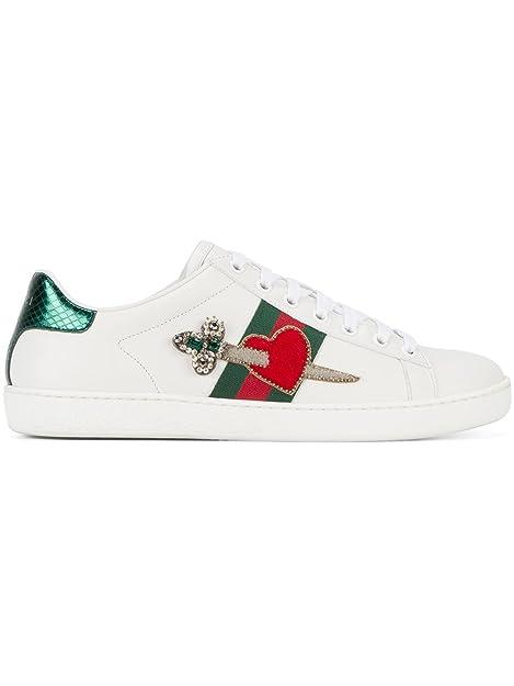 GUCCI - Zapatillas de Gimnasia Mujer, Blanco (Blanco), 37: Amazon.es: Zapatos y complementos