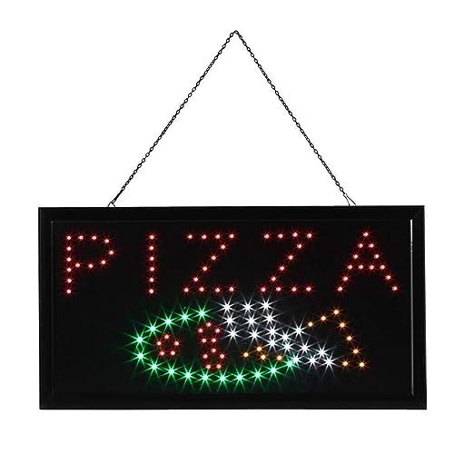 Cartel luminoso LED, placa con pantalla PIZZA, 3 - 5 W LED ...