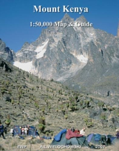 Mount Kenya Map and Guide 1:50,000