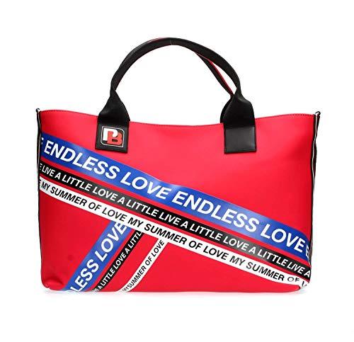 Pinko Portés stampa Gommato Multicolore Sacs Talento rosso Lucida Shopping Main blu PZaPr