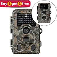 Distianert Trail Camera 12MP 1080P ( Photo up to 16MP) Wildlife Game Camera Low Glow with 0.6S Trigger Time 80 FT Detection Range 120?Range & 47 Pcs IR LEDs for Wildlife Monitoring