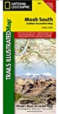 National Geographic TI00000501 Map Of Moab South - Utah