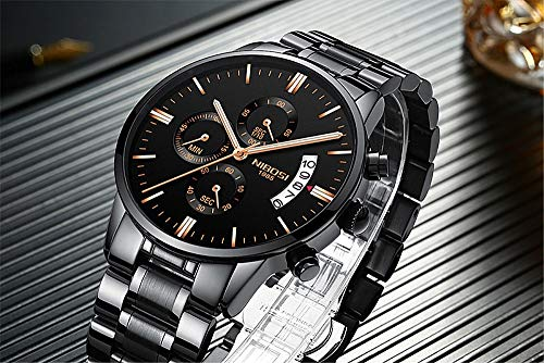 GCtown Men's Watches Sports Luxury Watch Chronograph Waterproof Military Quartz Wristwatches for Men