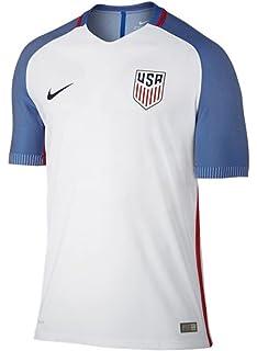 Amazon.com   Nike 2018-2019 England Home Football Soccer T-Shirt ... 24f34e2f8