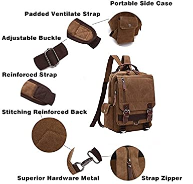Amazon.com | Mochilas de Mujer, Vintage Canvas Backpack Outdoor Hiking Travel Rucksack School | Backpacks