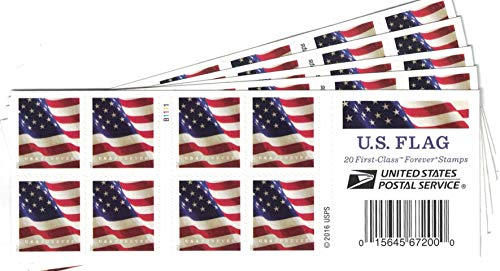 U.S. Flag USPS Forever Stamps, Book of 20-2017 (5 Books of 20 Stamps) (Postal Stamps United)