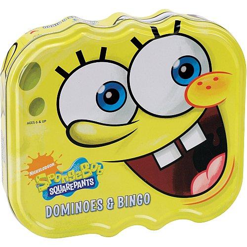 (Spongebob Squarepants Dominoes and Bingo in Tin Metal Box)