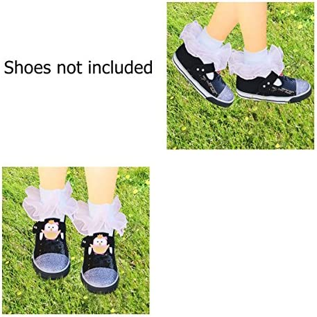 9126b9e3a4c55 Wrapables Lil Miss Mia Organza Ruffle Socks for Toddler Girl (Set of ...