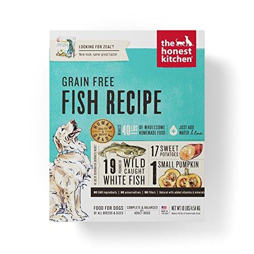 Honest Kitchen The Human Grade Dehydrated Grain Free Fish Dog Food  10 Lb   Zeal