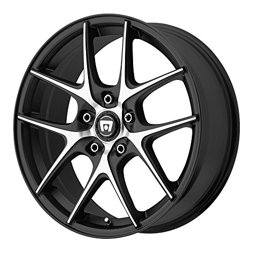 Motegi Racing MR128 Satin Black Wheel With Machined Flanged (16x7