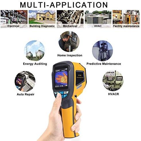 HT-02D Thermal Imaging Camera,Akozon Handheld Infrared Thermal Imager Industrial Infrared Camera IR Resolution of 1024 Pixels Temperature Range:-20~300/°C