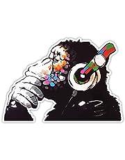 Banksy Denker Aap Hoofdtelefoon Ontwerp | Wall Art Graffiti Vinyl Sticker | Urban Art Window, Auto, Laptop Decal